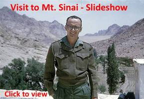 Gord Jenkins slideshow of visit to Mt. Sinai.