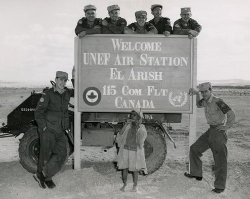 Photograph from El Arish airport courtesy of the Canadian War Museum.