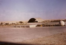 Photo courtesy of Garry Harding - El Arish hangar airport 1967